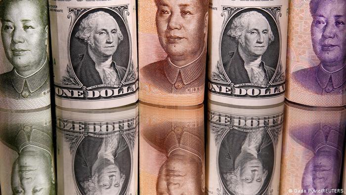 Symbolbild Währung Yuan Dollar Wirtschaft USA China