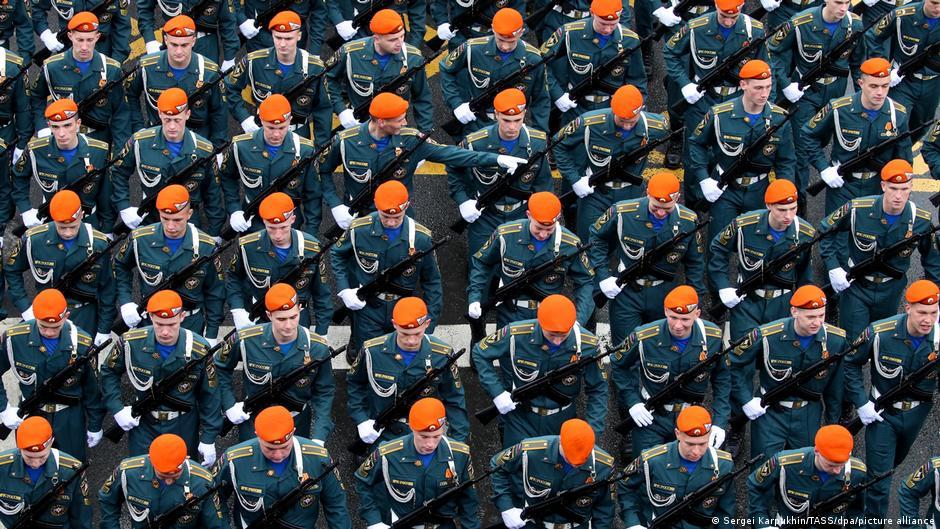 Russland Moskau Tag des Sieges Parade