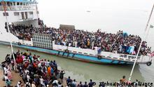 Bangladesch Munshiganj Eid al-Fitr Fest Verkehr Fähre