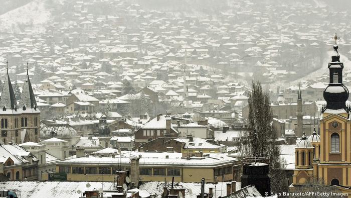 Bosnien und Herzegowina Kirche und Moschee in Sarajevo