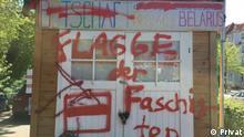 Deutschland belarussische Botschaft in Berlin Graffiti