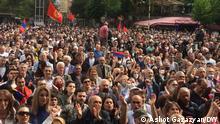 Proteste in Armenien Die Bilder hat DW-Korrespondent in Armenien Ashot Gazazyan in Erivan am 09.05.21 gemacht. Wir haben alle Rechte.