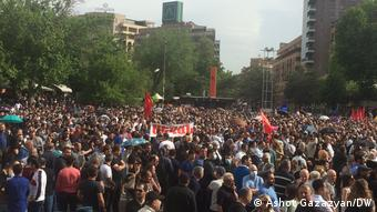 Митинг в Ереване в поддержку оппозиции