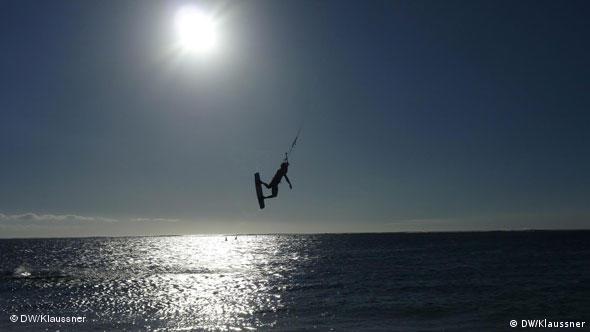 Kiter auf Mauritius (Foto: DW/Miriam Klaussner)