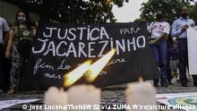 Brasilien Protest in Rio de Janeiro