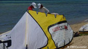 Kite-Schule auf Mauritius (Foto: DW/Miriam Klaussner)