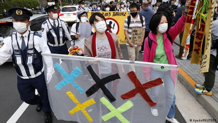 Manifestación en Tokio el pasado fin de semana contra la celebración de los Juegos Olímpicos.