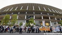 Japan Tokio   Protest gegen Olympische Spiele