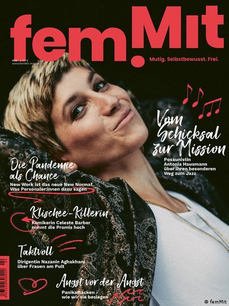 La trombonista Antonia Hausmann en la portada del siguiente número de femMit