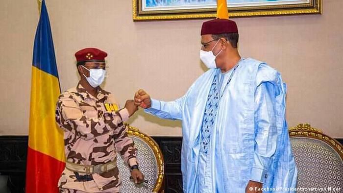 Mahamat Idriss Déby et Mohamed Bazoum ce 10 mai à Niamey