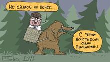 Karikatur Vermisstenanzeige für den Chefarzt in Omsk