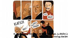 Página do livro em quadrinhos Klarsfeld, uma luta contra o esquecimento