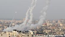 Israel Palästina | Raketen werden vom Gazastreifen nach Israel abgefeuert