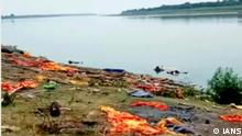 Patna: Around 45 decomposed bodies found in Ganga river at Bihar's Buxar district. On Monday, 10 May, 2021.(Photo: indrajit /IANS)