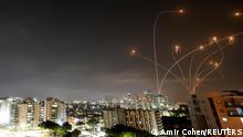 Israel Ashkelon Iron Dome fängt Raketen aus Gazastreifen ab