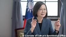 Taiwans Präsidentin Tsai Ing-wen spricht auf dem vierten jährlichen Kopenhagener Demokratiegipfel