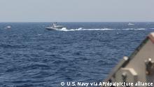 US-Schiffe feuern erneut Warnschüsse wegen iranischen Booten ab