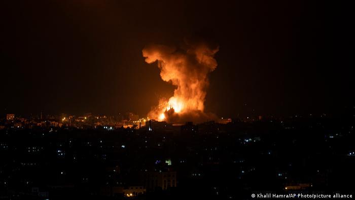 تصویری از حمله هوایی اخیر اسرائیل به غزه