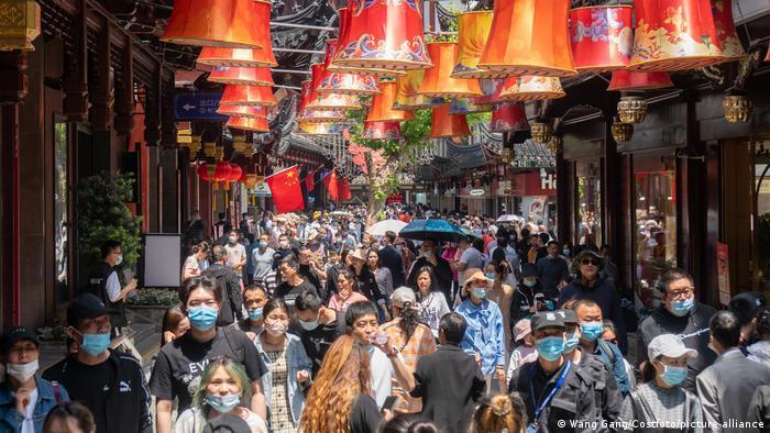China Einkaufsstrasse in Shanghai