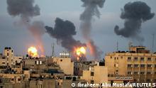 Weltspiegel 11.05.2021 | Israel Konflikt |Südlicher Gazastreifen Khan Yunis, israelischer Luftangriff