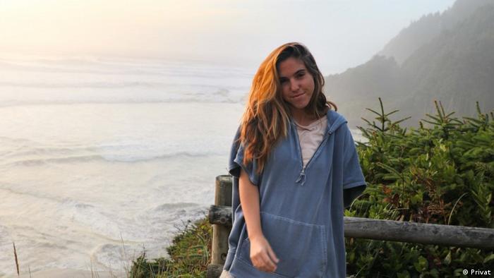 Carissa Cabrera poses on a clifftop