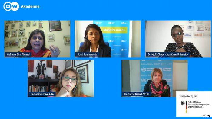 Screenshot BMZ Event Initiative Transparenz und Medienfreiheit Panelists