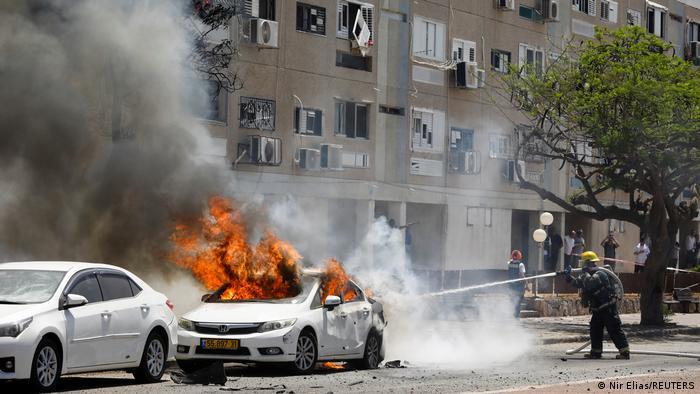 حمله موشکی به اسرائیل، شهر ساحلی اشکلون، ۱۱ مه ۲۰۲۱