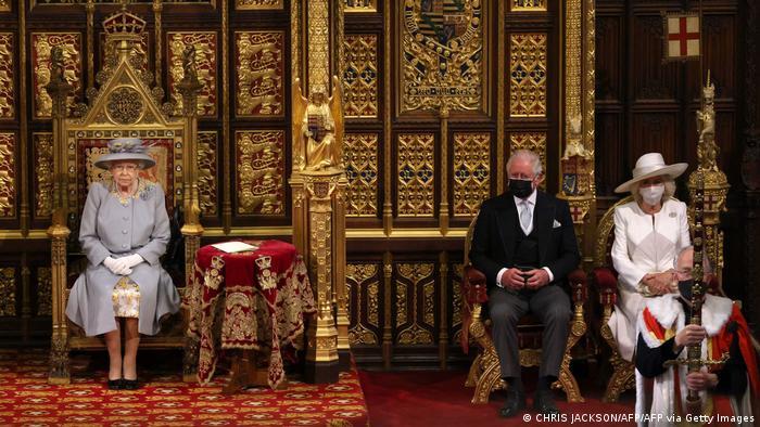 Königin Elizabeth II Eröffnung des britischen Parlaments London UK