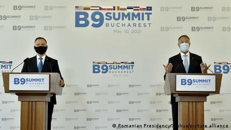 Andrzej Duda și Klaus Iohannis la București
