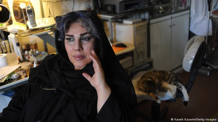 Transgender activist Maryam Khatoon Molkara at her home in Iran in 2010