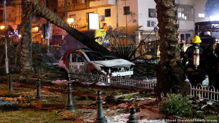 Israel Tel Aviv Zerstörung nach Raketenangriff Hamas