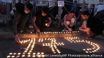 Номер школы, где произошла стрельба, выложили свечами