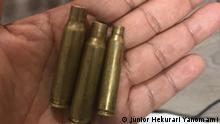 Balas recolhidas após tiroteio durante visita à comunidade Palimiú, na Terra Indígena Yanomami
