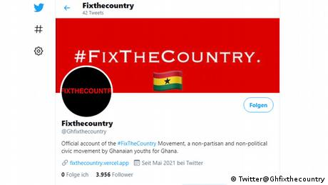 Screenshot of the Twitter account Fixthecountry