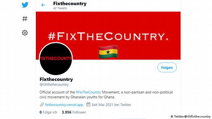 Screenshot Twitter Fixthecountry