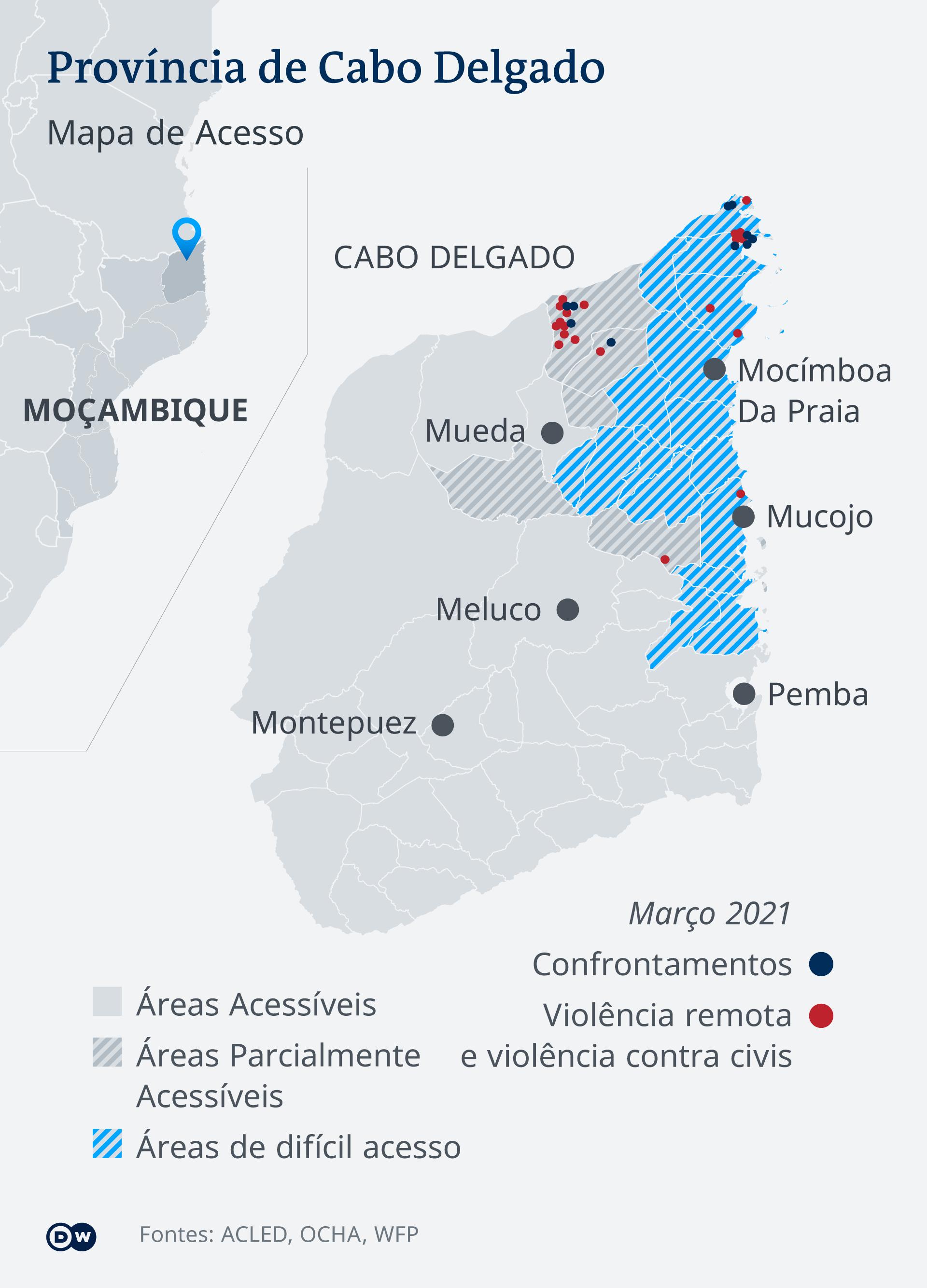 Infografik Karte Cabo Delgado Mozambik PT