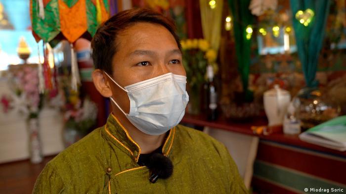 Tenzin bei einem Besuch im Tibet-Institut
