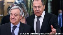 Russland Moskau | Sergey Lavrov und Antonio Guterres