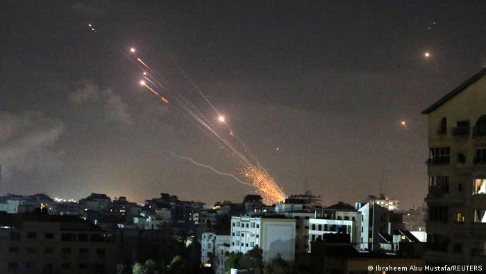 Ракеты, выпущенные в сторону Израиля