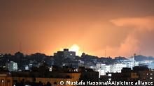Palästina Gazastreifen | Beit Lahia | Israelische Luftschläge in der Nacht