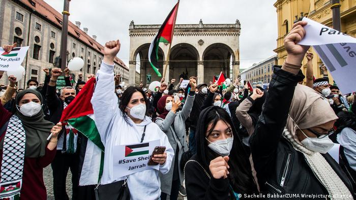 An anti-Israel protest in Munich