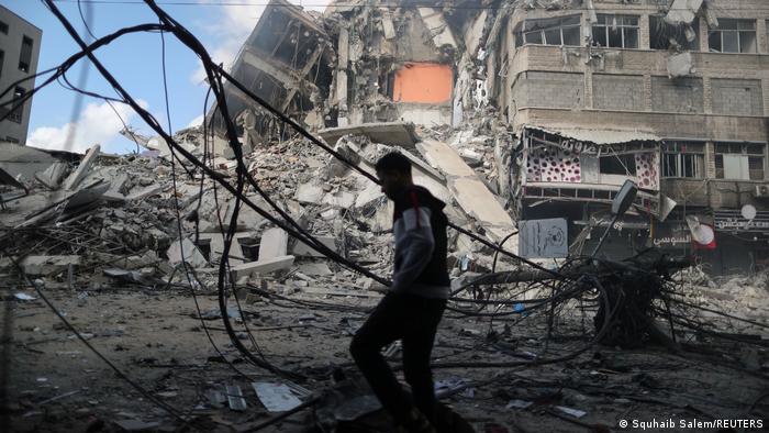 تخریب یکی از مراکز حماس در پی حمله هوایی اسرائیل