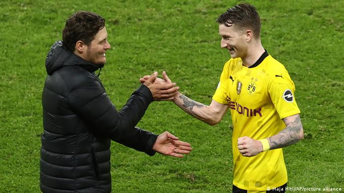 Fußball: DFB-Pokal Finale I RB Leipzig vs Borussia Dortmund | Edin Terzic und Marco Reus