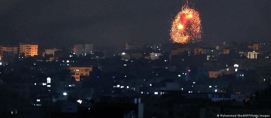 An airstrike on Beit Lahia, Gaza