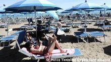 Italien Venedig | Tourismus Strand am Lido von Jesolo
