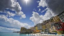 Italien Neapel Badeort Posillipo | Vorbereitungen für Tourismus