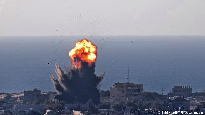 Weltspiegel 14.05.2021   Israel Konflikt  Rafah, israelischer Luftangriff