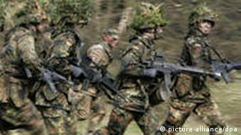 Soldiers take part in an exercise