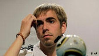 Germany's team captain Philipp Lahm