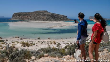 TABLEAU  Griechenland Tourismus  Insel Kreta, Touristen